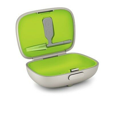 Phonak Green & Gold Hearing Aid Storage Box / Case & Cleaning Tool New In Box