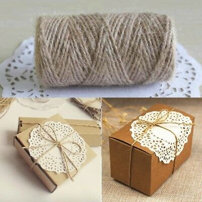 DIY Brown Jute Hemp Rope Twine String Cord Shank Craft String Making 33M  #WE9