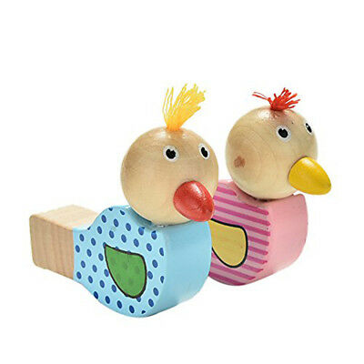 Colorful Wooden Bird Whistle Kids Musical Instrument Educational Whistle Toy 6A