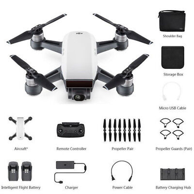 DJI SPARK Fly More Combo Portable Quadcopter Drone 12MP 1080P Alpine White UK