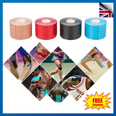6 Rolls 5M Kinesiology Tape Sports Physio Muscle Strain Injury Support KT Ares
