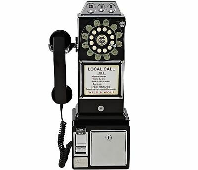 Wild & Wolf 1950s American Diner Phone Black