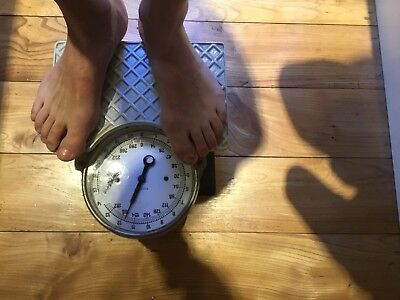 Antique,vintage, Shabby Chic, Restored Bathroom Scales.