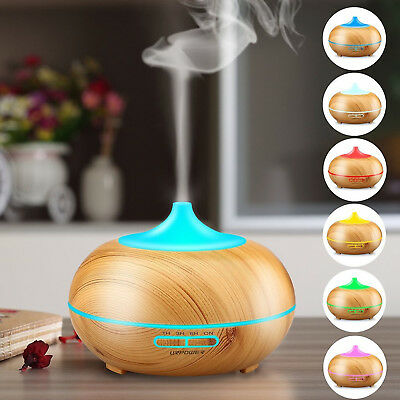 LED Ultraschall Luftbefeuchter 300ml Aroma Diffuser Aromatherapie Duftlampe 2018