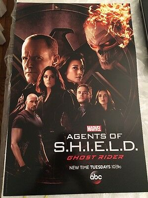 NEW Marvel Agents of Shield Coulson Ghost Rider Poster NYCC 2016 exclusive