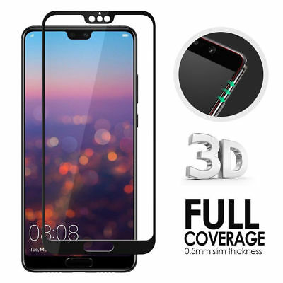 5D Full Coverage Tempered Glass 9H Screen Protector For Huawei P20 Pro Lite 2018
