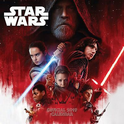 Official 2019 Star Wars The Last Jedi Calendar Square Wall Hanging Gift Present