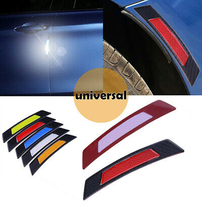 2x Reflective Warning Strip Tape Car Strips Secure Stickers Decals Safety Red