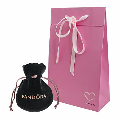 Genuine PANDORA Pink Love Heart Gift Bag & Pouch