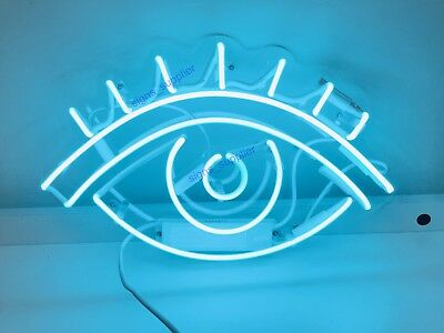 "New Eye Neon Sign Acrylic Gift Light Lamp Bar Wall Room Decor 15""x10"""