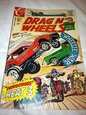 Drag N' Wheels #43 (Charlton, 1970) Good condition