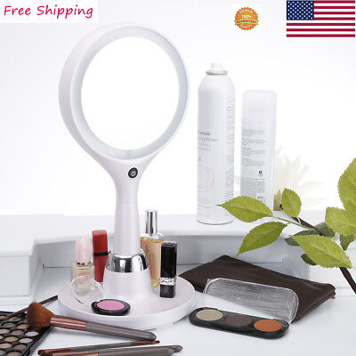 Makeup Cosmetic Mirror Double Sided 1x/7x Magnifying Round Stand Small Mirror