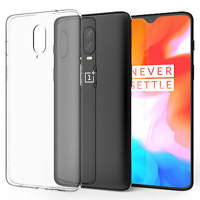OnePlus 6T Case, Slim Crystal Clear Transparent Best Silicone Gel Phone Cover UK
