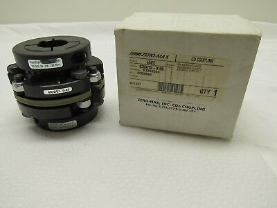"Zero Max 6A45C CD Coupling 1.375"" Bore Clamped X 40mm Bore Clamped FREE SHIPPING"