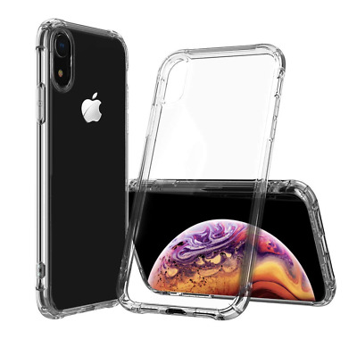 iPhone XS X XS MAX XR TPU Shockproof Bumper Clear Silicone Protective case **LOT