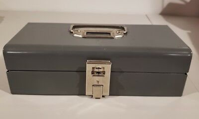Vintage Buddy Products ~ Gray Metal Cash Lock Box ~Vendor Trade Show Garage Sale