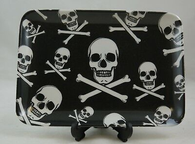 Skull And Crossbones Dish/plate/ashtray,ideal Gift For Any Occasion Hzskuaf