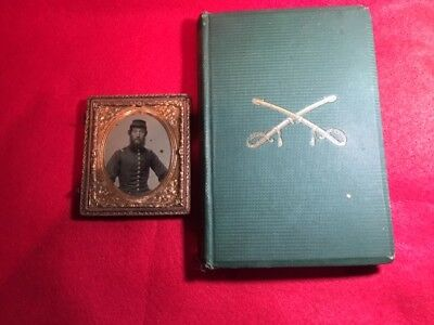 Civil War Ambrotype  and book belonging to  Henry O. Spaulding a Union Officer