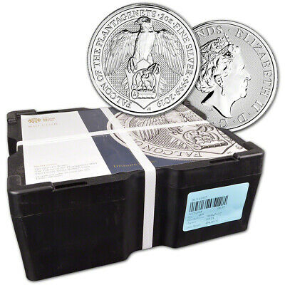 2019 Great Britain Silver Beasts Falcon £5 - 2 oz - Sealed 200 Coin Monster Box