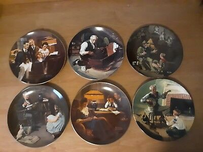 Lot Of 6 Knowles~ Norman Rockwell Collection Plates New