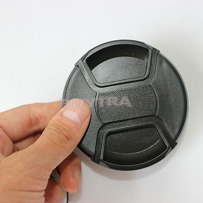 Polished 77mm Center Pinch Snap Front Cap For Sony Canon Nikon Lens Filters PR
