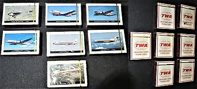 Vtg TWA Trans World Airlines 7 Decks of Unused Playing Cards Collectible Series