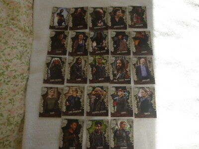 The Walking Dead Season 8 Part 1 ,23 Character Cards C-1-C-25,missing C-5+C-19