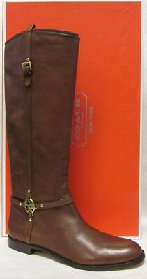 b225b6c1a474 Coach Mulan Chestnut Knee High Riding Boots - Size 11