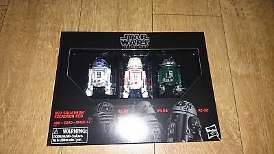 Star Wars Black Series Astromech Droids Exclusive Figures New R2-D2 Red Squadron