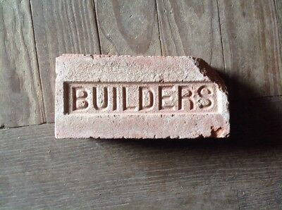 Antique Brick Stamped ***** Builders  *******