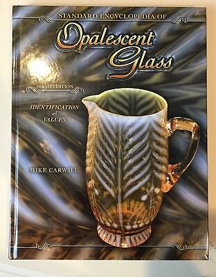 OPALESCENT GLASS BOOK PRICE GUIDE COLLECTOR ART GLASS ~ Exc Condition