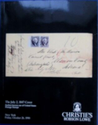 1990 The July 2,1847 Cover-Earliest US Stamp Auction Weill Bros/Christie's