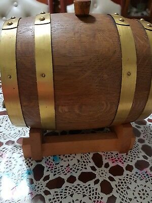 A Port Wine Barrel With Stand