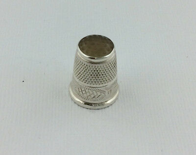 Victorian Silver Stone Topped Thimble Charles Horner
