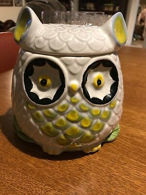 Vintage Anthropologie Owl Cookie Jar Retired HTF - Nuove Forme Made In Italy