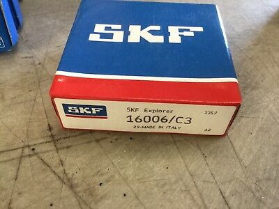 16006C3 SKF Explorer New Single Row Ball Bearing Free Shipping 16006//C3