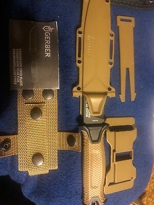 Gerber StrongArm Fixed Blade Knife, Fine Edge, Coyote Brown *NEW*
