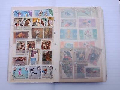 Rare Stamp album Big lot of 514 rare stamps!! Some scarce dead contry stamps !!!