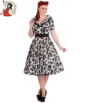 5a98bb415f0 ROBE HELL BUNNY col claudine retro pinup vintage rockabilly - EUR 25 ...