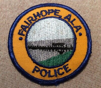 AL Fairhope Alabama Police Patch (3In)