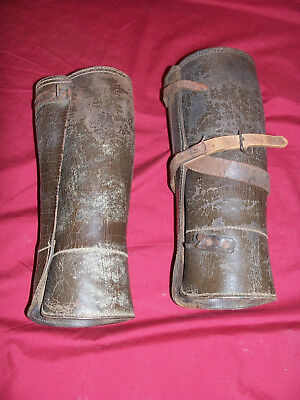 WWII Leather Officers Leggings US USGI Army Cavalry WWI Pair of Military Pants
