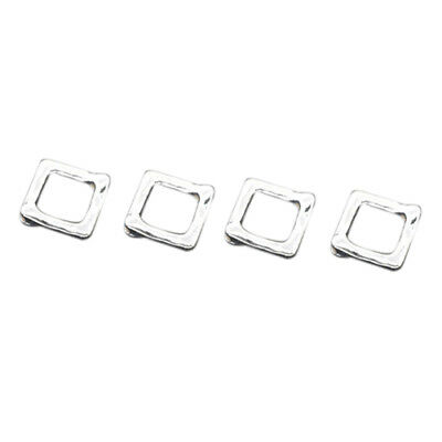 50 Silver Square Bead Frames 12x12mm Findings I7P2