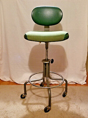 Enjoyable Vintage Industrial Drafting Stool Chair Swivel Adjustable Squirreltailoven Fun Painted Chair Ideas Images Squirreltailovenorg