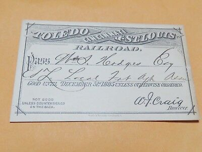 Toledo Cincinnati & St Louis Railroad 1885