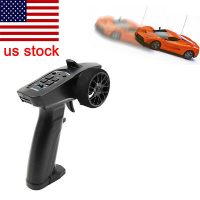 2.4GHz 3CH Digital Radio Remote Control Transmitter Receiver for RC Car Boat USA
