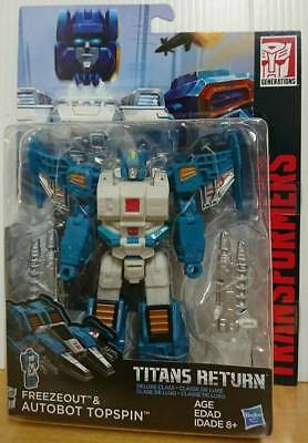 Hasbro Transformers Titans Return Deluxe Class Autobot Topspin A ction Figure