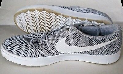 new arrival ce752 f06a5 Nike SB Portmore Ultralight Men Skate Shoes 8.5 Wolf Grey White 880271-011   S316
