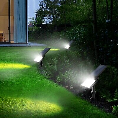 48 LED Waterproof Solar Powered Flood Light Outdoor Yard Garden Lawn Spot Lamp