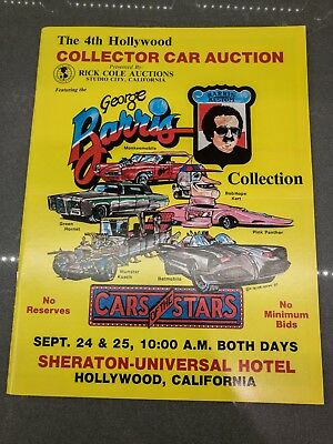 George Barris – Cars of the Stars Auction Book, 4th Hollywood Collector Car 1983