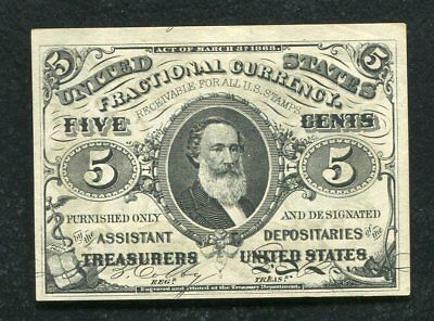 Fr. 1238 5 Five Cents Third Issue Fractional Currency Note Uncirculated